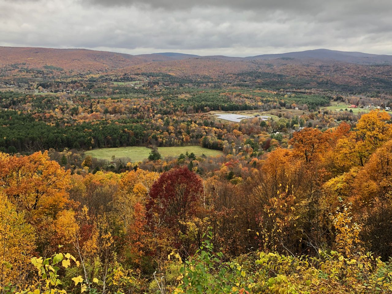 View from the hairpin turn on the Mohawk Trail in the Hoosac Range